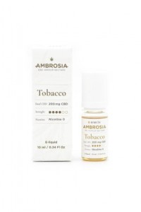 Enecta ambrosia E-liquid CBD konopny Tobacco 10ml 200mg CBD HIT